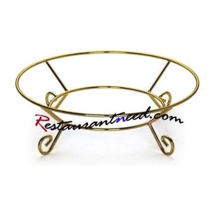 Φ340mm Gilded Round Food Display Stand P072