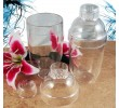 3 Piece Clear Plastic Mixing Shakers SH-PCL